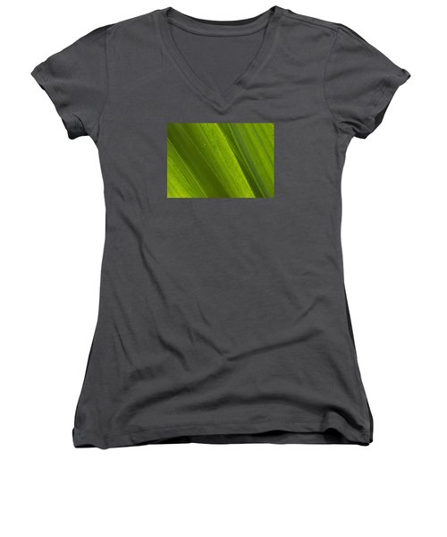 Green Abstract 2 Women's V-Neck (Athletic Fit)
