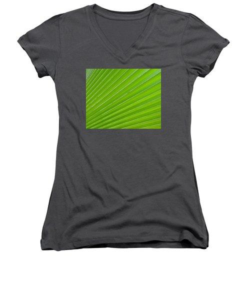 Green Abstract No. 1 Women's V-Neck