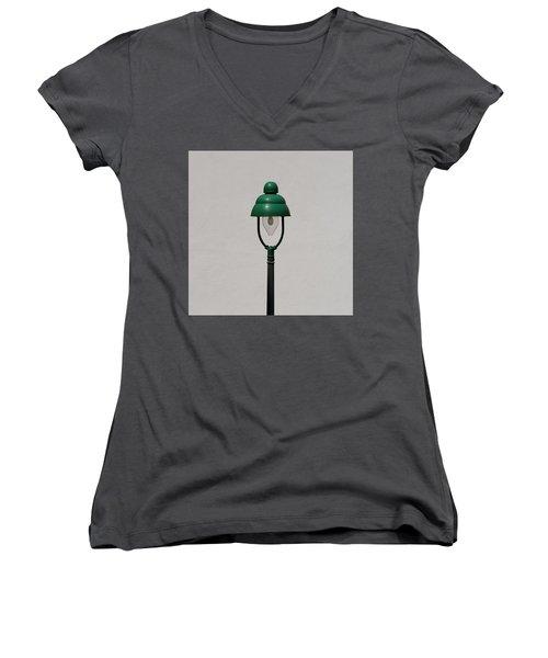 Green Bavarian Lamp Women's V-Neck