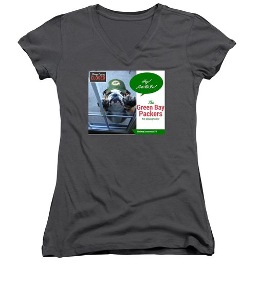 Green Bay Packers Women's V-Neck (Athletic Fit)