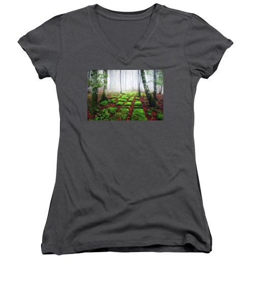 Green Brick Road Women's V-Neck