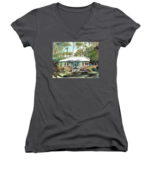 Green Cottage Women's V-Neck T-Shirt