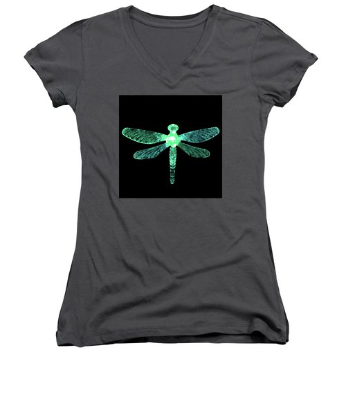 Green Dragonfly Women's V-Neck (Athletic Fit)