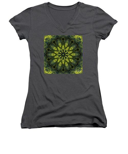 Succulent Mandala Women's V-Neck