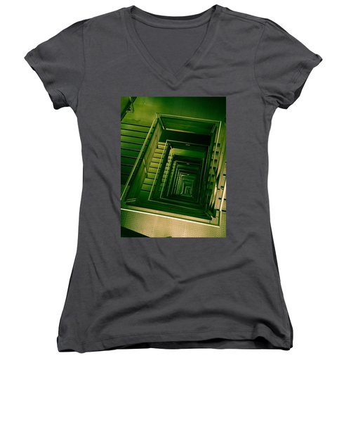 Green Infinity Women's V-Neck (Athletic Fit)
