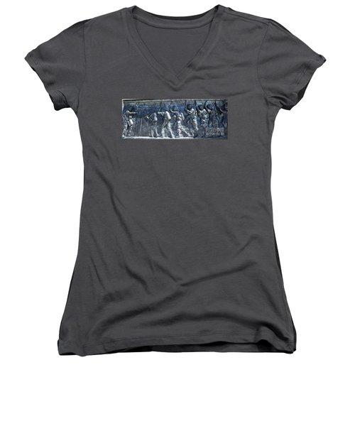 Green Light - Jump Time Women's V-Neck T-Shirt (Junior Cut) by David Bearden