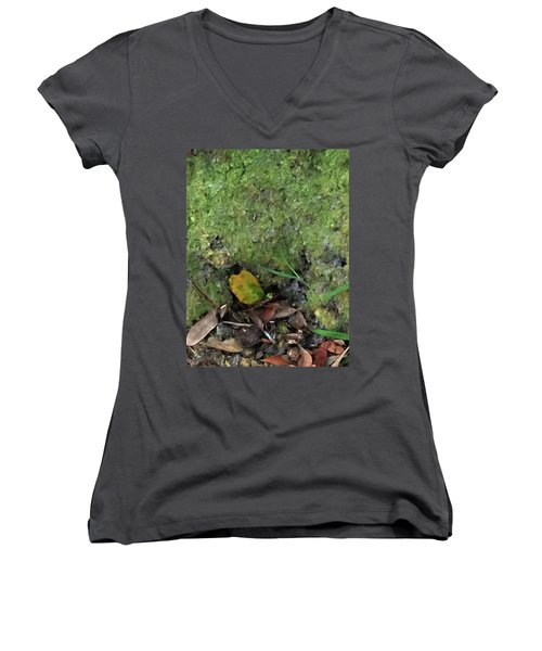 Green Man Spirit Photo Women's V-Neck (Athletic Fit)