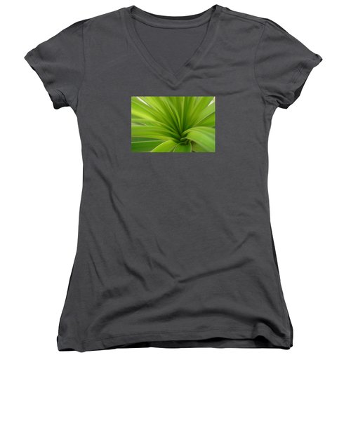 Green Women's V-Neck (Athletic Fit)