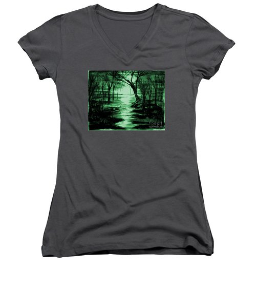 Green Mist Women's V-Neck (Athletic Fit)