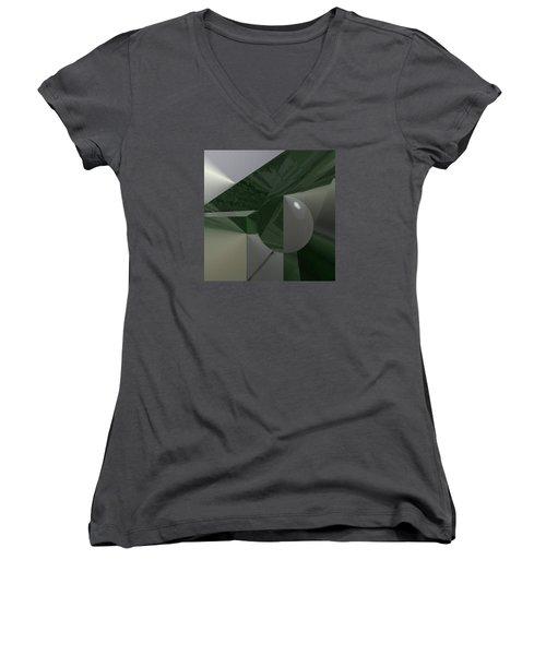 Green N Gray Women's V-Neck