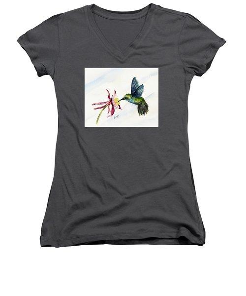 Green Violet-ear Hummingbird Women's V-Neck