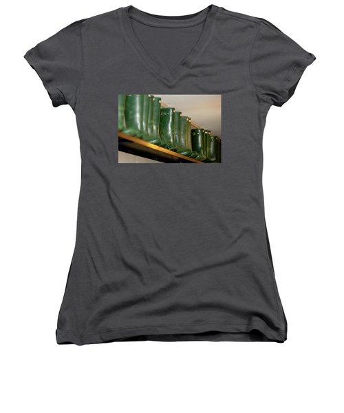 Green Wellies Women's V-Neck