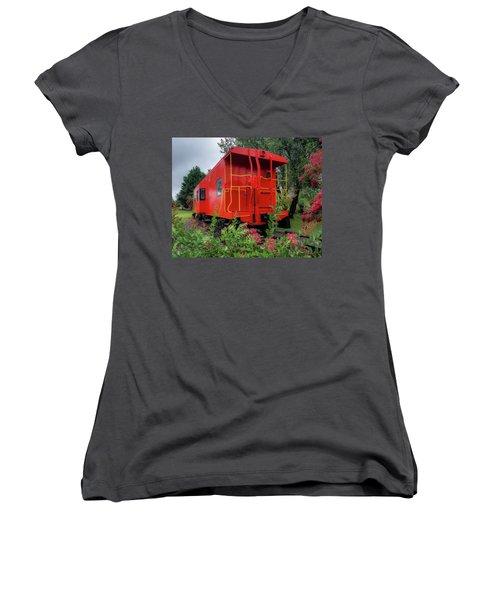 Gretna Railroad Park Women's V-Neck (Athletic Fit)