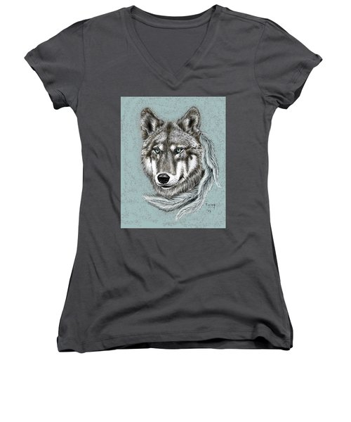 Grey Wolf Women's V-Neck
