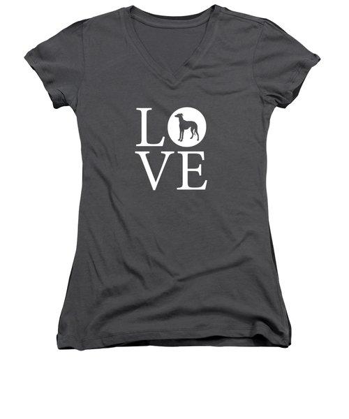 Greyhound Love Red Women's V-Neck