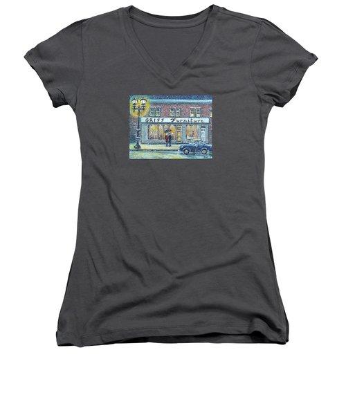 Griff Furniture Women's V-Neck (Athletic Fit)