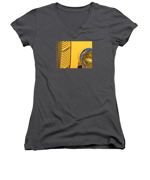 Grilled Chrome To Yellow Women's V-Neck