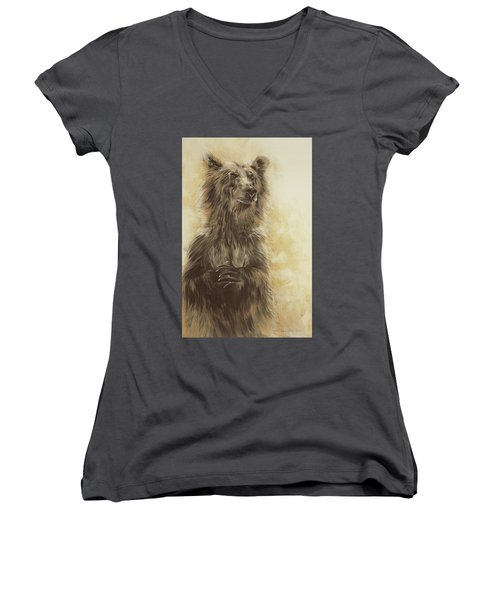 Grizzly Bear Women's V-Neck T-Shirt