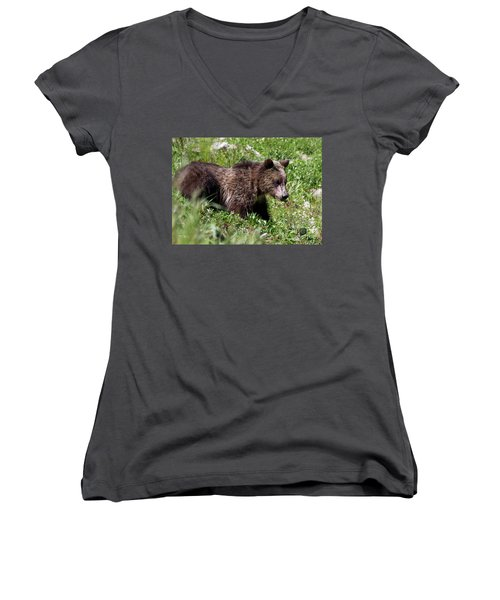Grizzly Cub  Women's V-Neck
