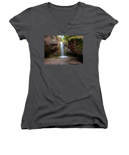 Grotto Falls Women's V-Neck (Athletic Fit)