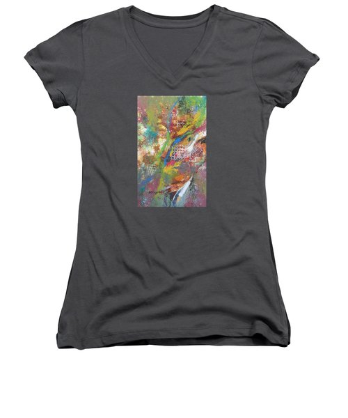 Growth Women's V-Neck T-Shirt (Junior Cut) by Becky Chappell