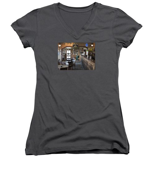 Gruene Hall Bar Women's V-Neck (Athletic Fit)