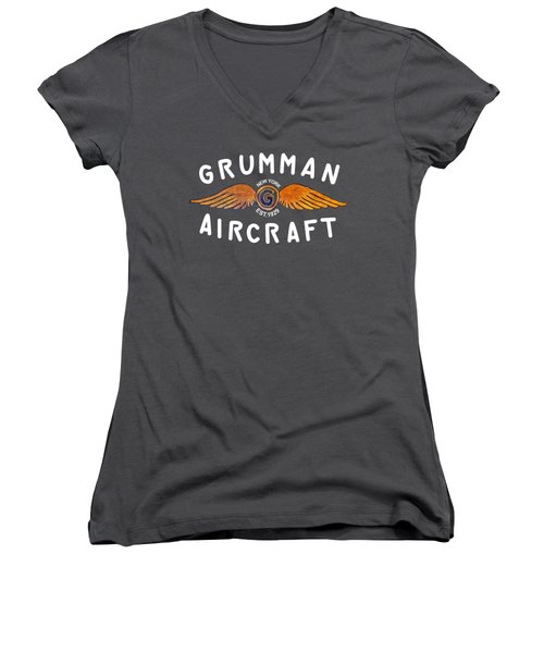 Grumman Wings Gold Women's V-Neck (Athletic Fit)