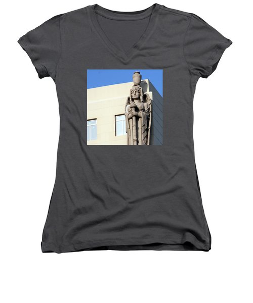 Guardian Angel And Blue Women's V-Neck