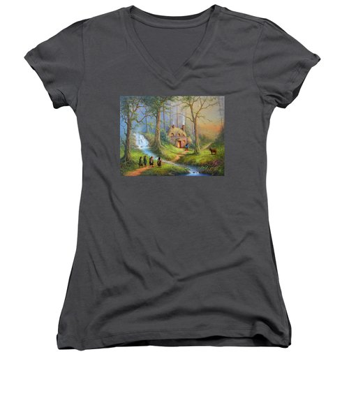 Guardian Of The Forest Women's V-Neck (Athletic Fit)