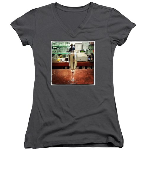 Women's V-Neck featuring the photograph Guess What Guess Where? by Mr Photojimsf