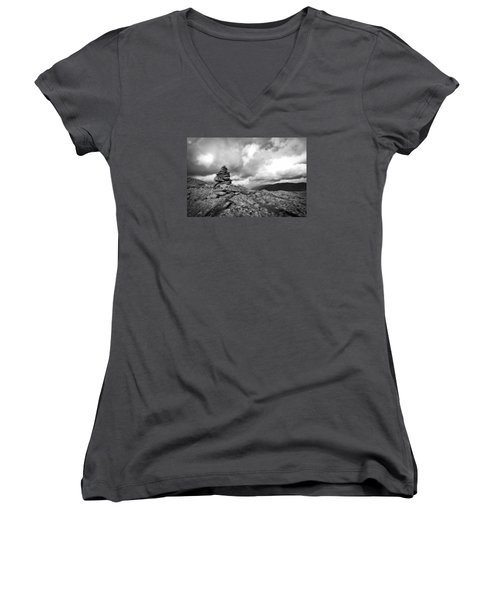 Guide In The Clouds Women's V-Neck T-Shirt (Junior Cut) by Michael Hubley