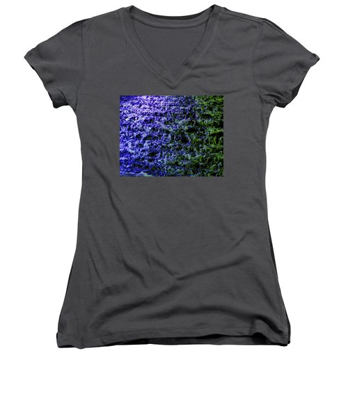 Women's V-Neck T-Shirt (Junior Cut) featuring the photograph Guildford Waterfall by Will Borden
