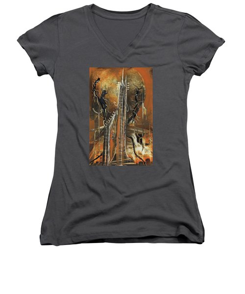 Guitar World Women's V-Neck T-Shirt