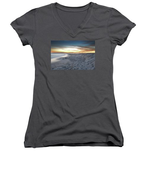 Women's V-Neck T-Shirt (Junior Cut) featuring the photograph Gulf Island National Seashore by Renee Hardison