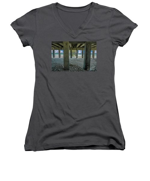 Gulf Shores Park And Pier Al 1649 Women's V-Neck (Athletic Fit)