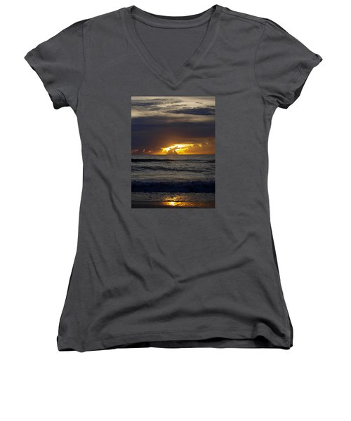 Gulf Sunset Women's V-Neck (Athletic Fit)