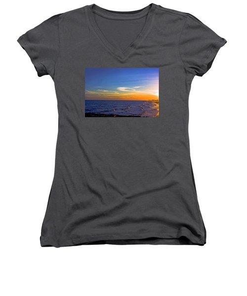 Gulf Sunset Women's V-Neck T-Shirt