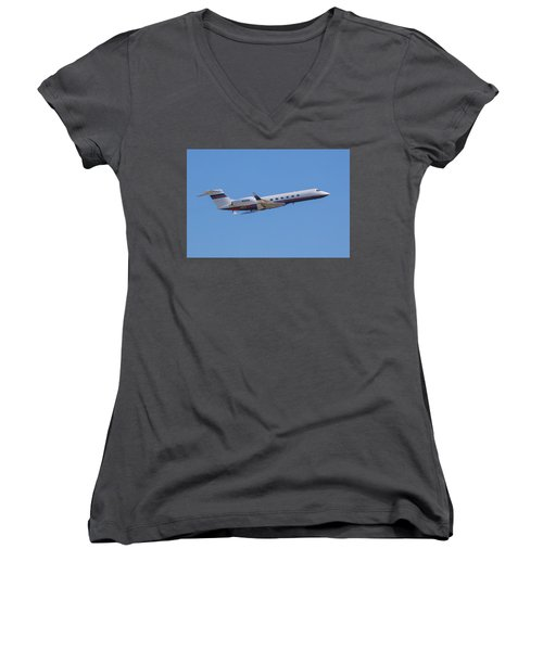 Gulfstream Gv Private Jet Women's V-Neck