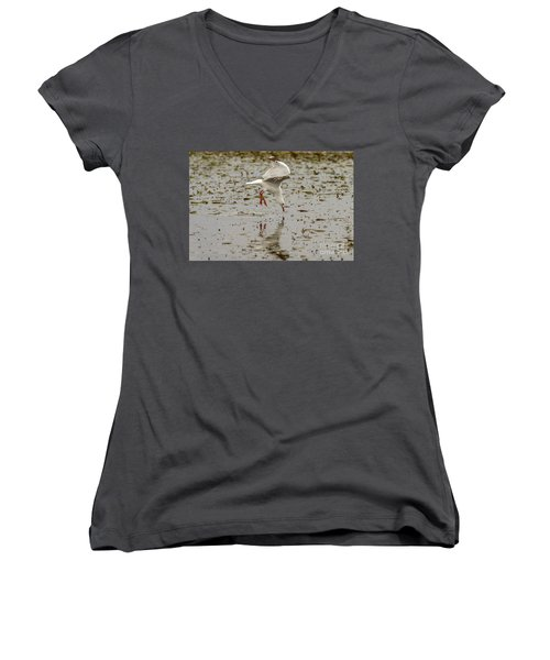 Gull Fishing 01 Women's V-Neck
