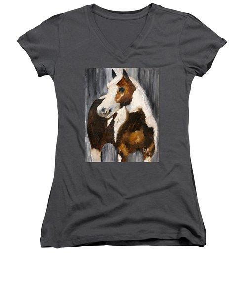 Gunnar Women's V-Neck T-Shirt (Junior Cut) by Barbie Batson