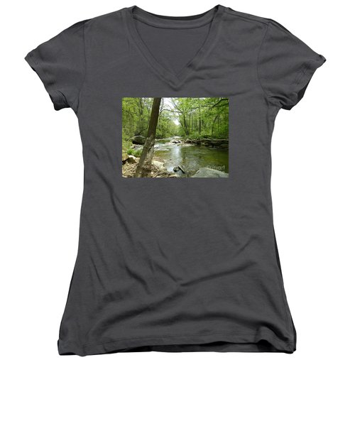 Gunpowder Falls - Ncr Trail Women's V-Neck (Athletic Fit)