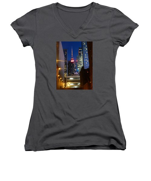 H M Building Women's V-Neck T-Shirt