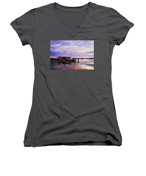 Hagley's Landing Women's V-Neck T-Shirt