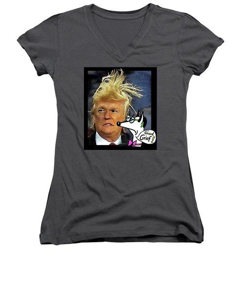 Hail  Emperor Trump...   Women's V-Neck