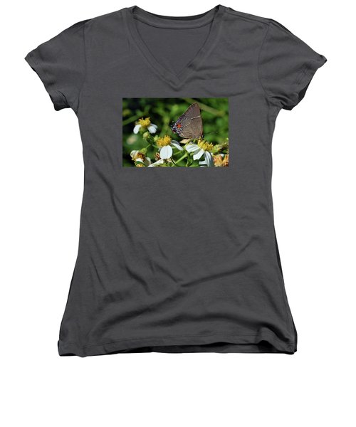 Hairstreak Butterfly Women's V-Neck (Athletic Fit)