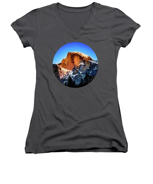Half Dome Aglow Women's V-Neck (Athletic Fit)