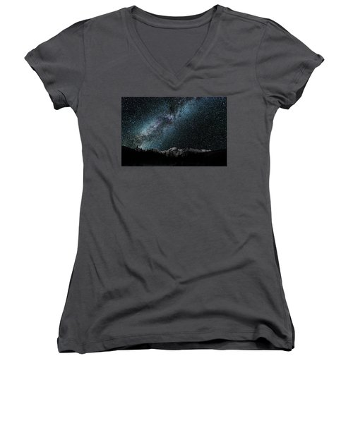 Hallet Peak - Milky Way Women's V-Neck