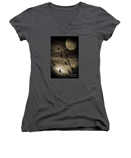 Guardians Of The Lake Women's V-Neck T-Shirt (Junior Cut) by Elizabeth Winter