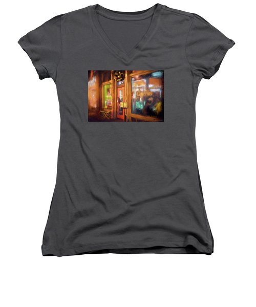 Hampden Cafe Women's V-Neck T-Shirt