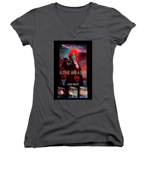 Handfasting Poster Women's V-Neck T-Shirt (Junior Cut)
